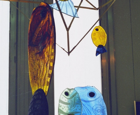 Риби от цветно стъкло