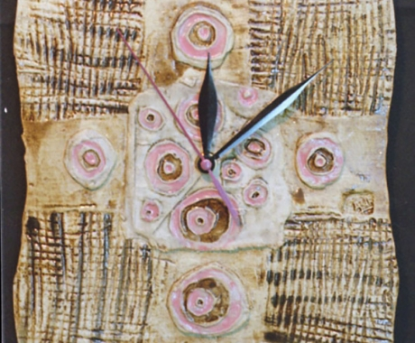 Часовник в розово  и кафяво