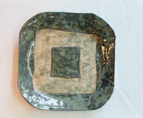 Квадратна чиния в зелено